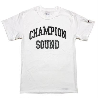 """CHAMPION SOUND"" S/S TEE WHITE"