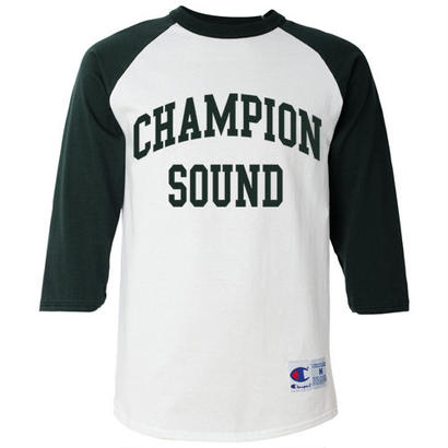"""CHAMPION SOUND"" RAGLAN BASEBALL TEE GREEN"