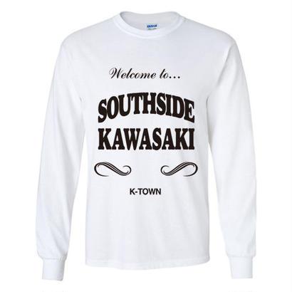 """SOUTHSIDE KAWASAKI"" L/S TEE WHITE"