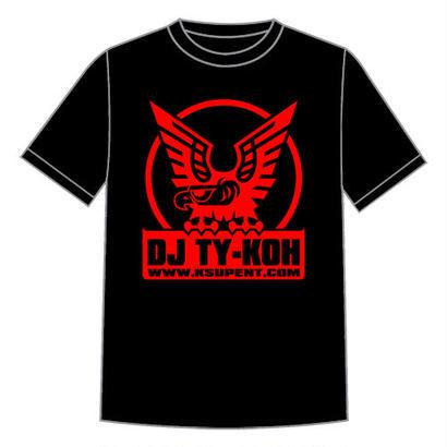 【再入荷】DJ TY-KOH LOGO TEE BLACK with STICKER