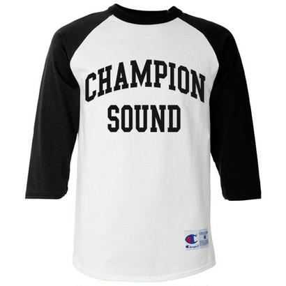 """CHAMPION SOUND"" RAGLAN BASEBALL TEE BLACK"
