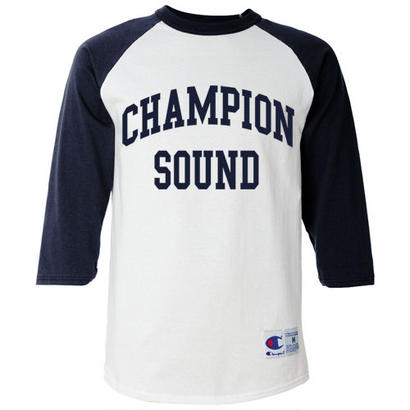 """CHAMPION SOUND"" RAGLAN BASEBALL TEE NAVY"