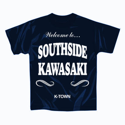 """【再入荷】""""SOUTHSIDE KAWASAKI"""" S/S TEE NAVY"""