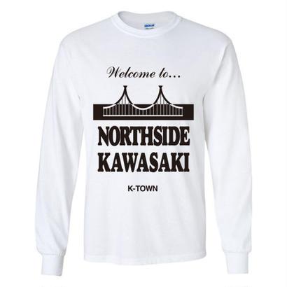 """NORTHSIDE KAWASAKI"" L/S TEE WHITE"