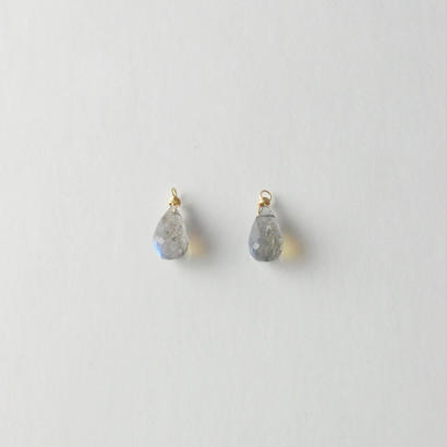 【anq.】K10・天然石チャーム ラブラドライト