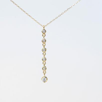 【anq.】K10、6連ダイヤモンドネックレス