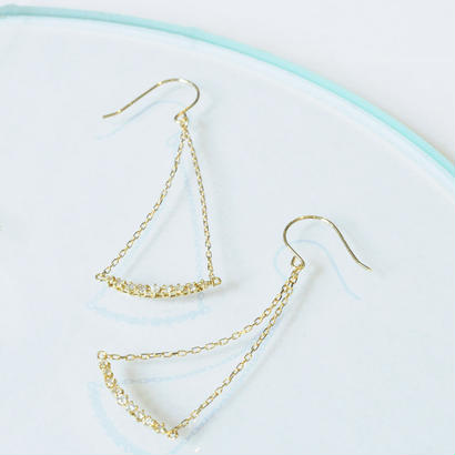 【anq.】 K18 ・Libra ダイヤモンドピアス