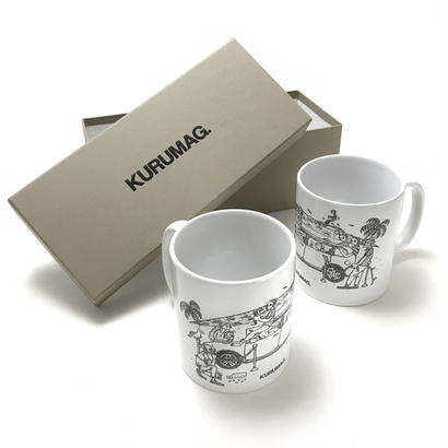 KURUMAG.  Pair Coffee Mug