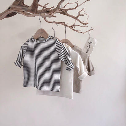 <即納>momo t(stripe xL,beige dot s)