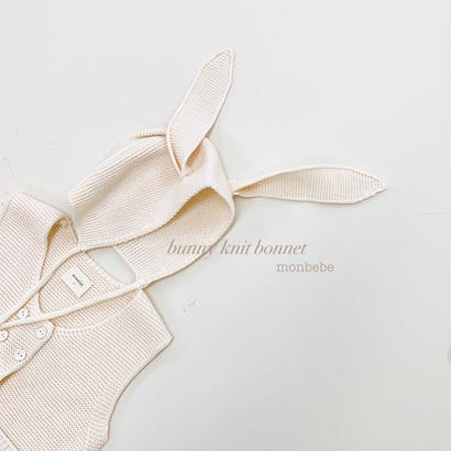 bunny knit bonnet