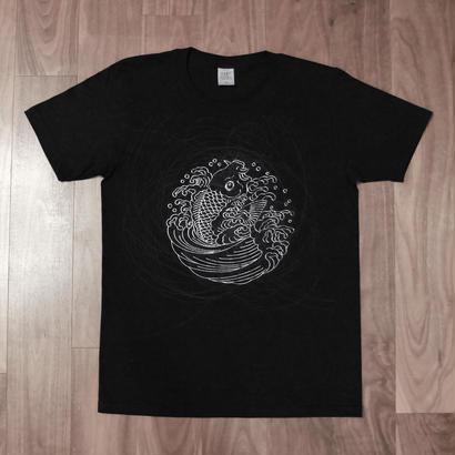 AZOTH×京源 家紋Tシャツ -鯉の滝登り-