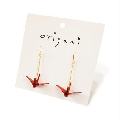 origami  ピアス大・イヤリング大 (鶴2色)