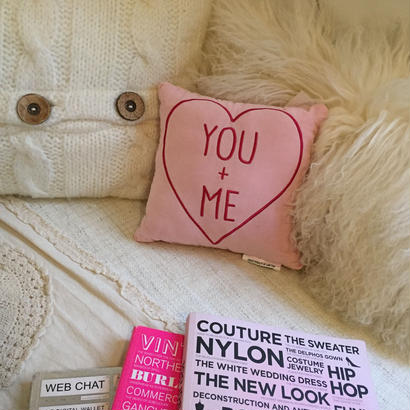 YOU + ME  PINK CUSHION