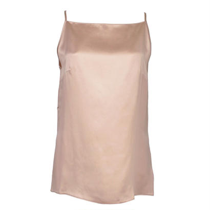 正絹シルク100%トップス シルクサテン スクエアキャミソール(la sakura)3082