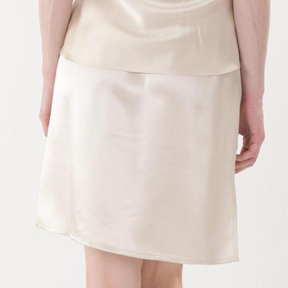 【アウトレット】シルク100%サテン ペチコート 44cm丈 (la sakura)3073 MサイズSM