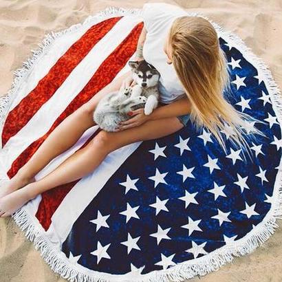 アメリカンフリンジビーチマット