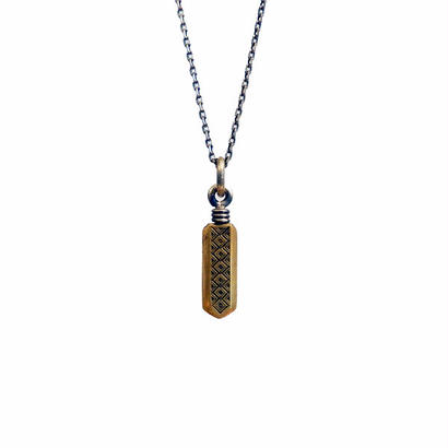 bIRTHRE - feather engraving pendant T-35 brass