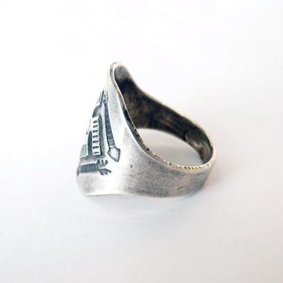 vintage - 1920's wuling rog ring / v-186