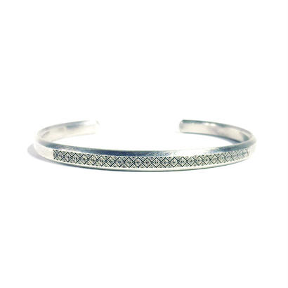 bIRTHRE - engraving bangle B-7 silver