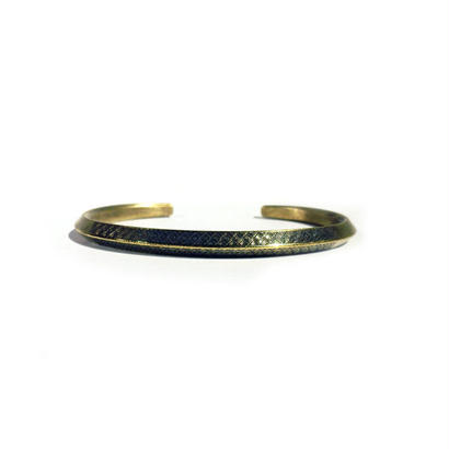 bIRTHRE - engraving ethnic bangle B-12 brass