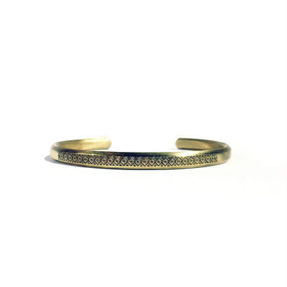 bIRTHRE - engraving bangle B-7 brass