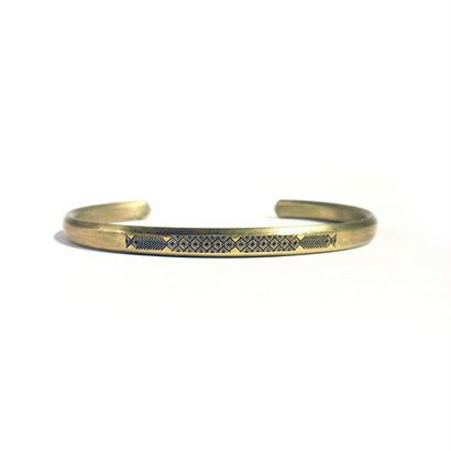 bIRTHRE - engraving twins fish bangle B-8 brass