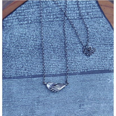 TIME  Hand Double Necklace(SILVER)