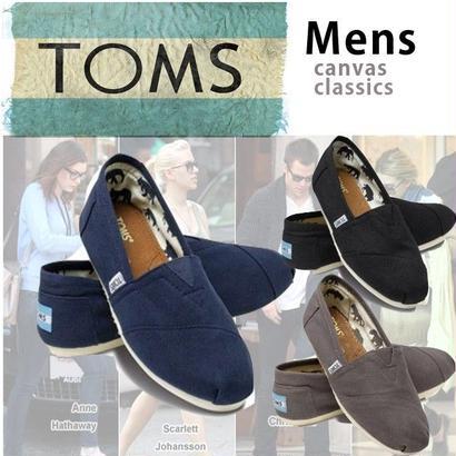 [激安・数量限定]国内当日発送 ☆TOMS shoes   トムス トムス トムズシューズ メンズスリッポン シューズ/classics[toms-m-classics]