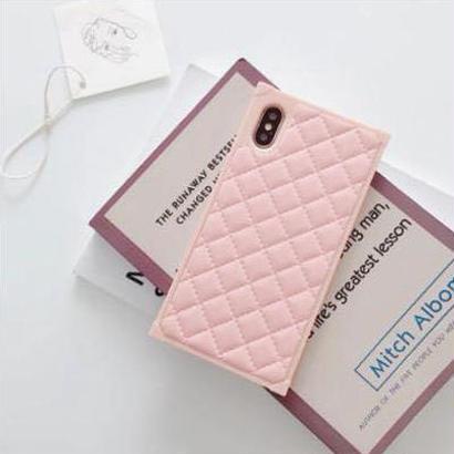ピンク キルティング iPhoneケース