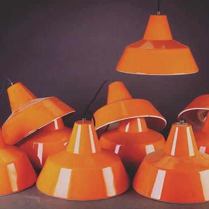 Orange  Work Shop Lamp By Louis Poulsen