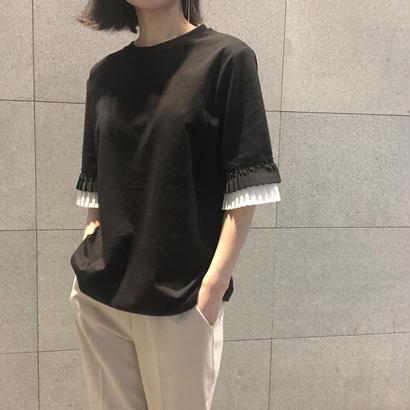 bicolor pleats T