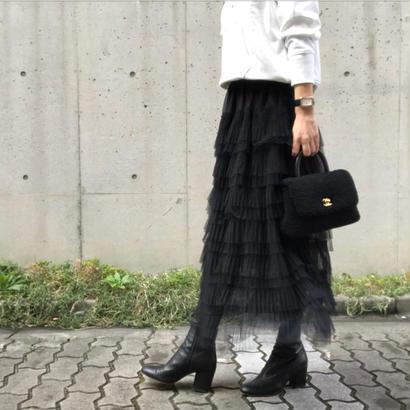 ティアード チュール スカート