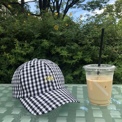 gingham check cap