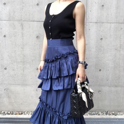 navy frill skirt