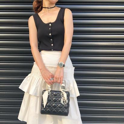 pleats  ivory skirt