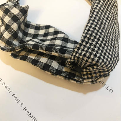 gingham check turban