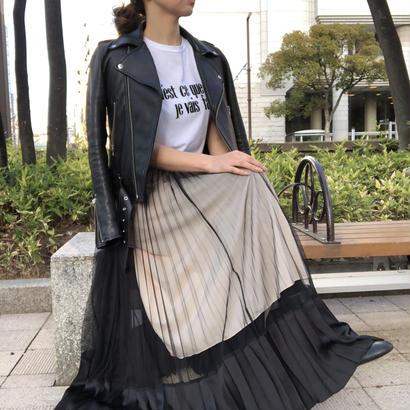 オーガンジープリーツスカート