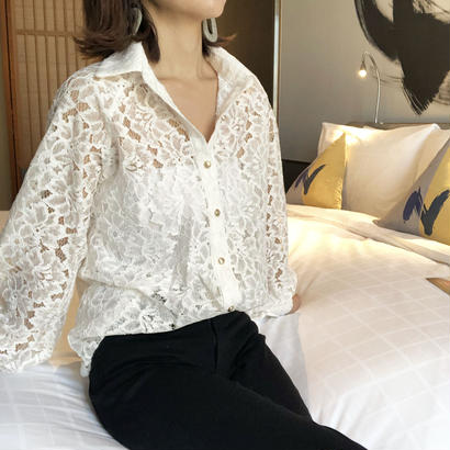 all lace blouse