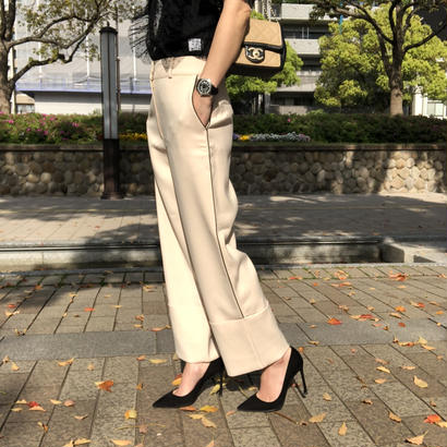 side line wide pants
