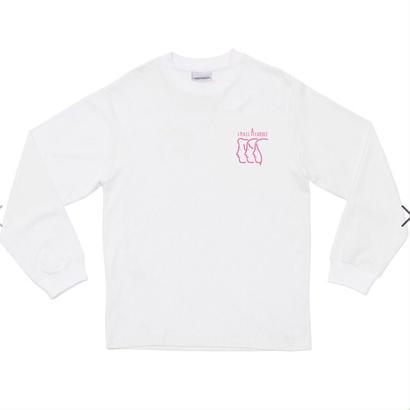 SMALL CANDLE 長袖 ロゴピンク Sサイズ