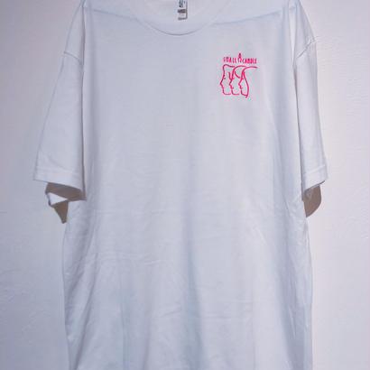 SMALL CANDLE  半袖 ロゴピンク Sサイズ