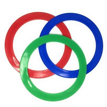ジャグリングリング 3枚セット(赤・青・緑) JUGGLE 4 FUN