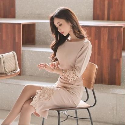 パーティードレス 韓国ワンピース バックシャン セクシー スリム お呼ばれ デート FS076001
