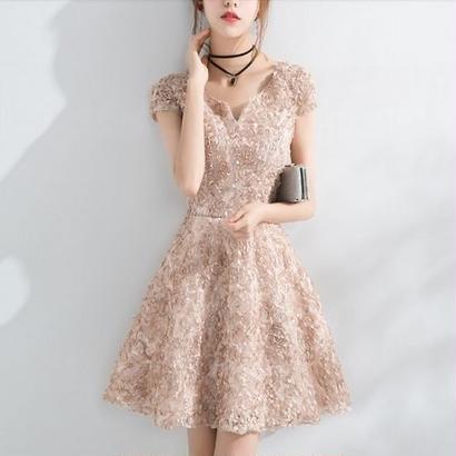 韓国ワンピース 花柄ドレス 結婚式 パーティー 食事会 発表会 FS060501