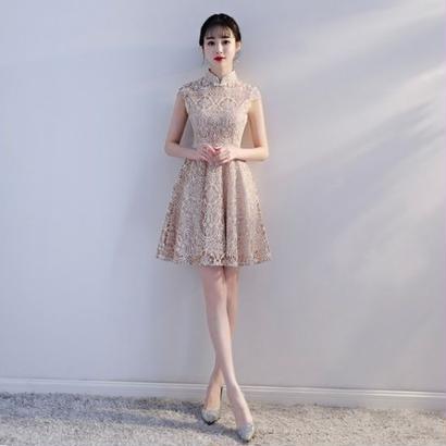韓国ワンピース タイト Aライン パーティードレス 結婚式 食事会 お呼ばれ FS063601