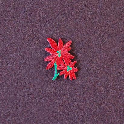 モチーフワッペン / 赤い花