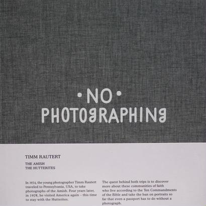 NO PHOTOGRAPHING / TIMM RAUTERT