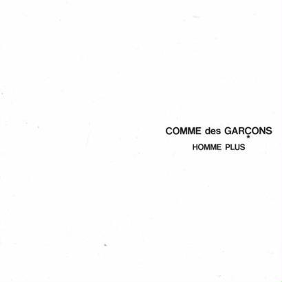 COMME des GARCONS HOMME PLUS CATALOGUE No.19