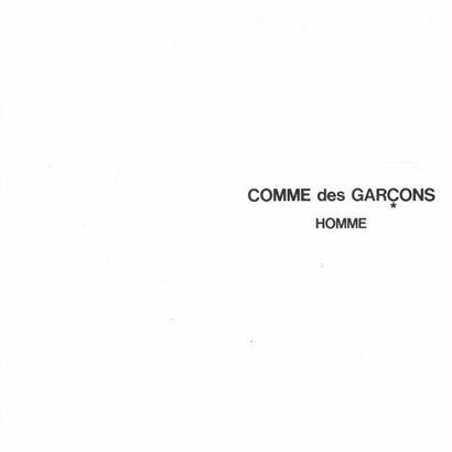 COMME des GARCONS HOMME CATALOGUE No.24