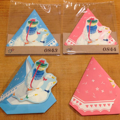 【rala design】メッセージカード あひるテント